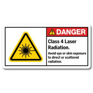 Class 4 Laser Radiation Avoid Eye Or Skin Exposure To Direct Or Scattered Radiation