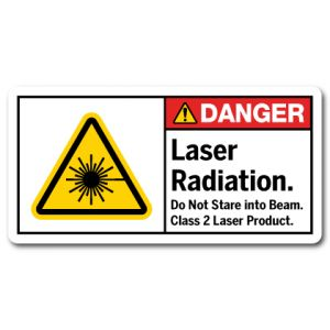 Laser Radiation Do Not Stare Into Beam Class 2 Laser Product