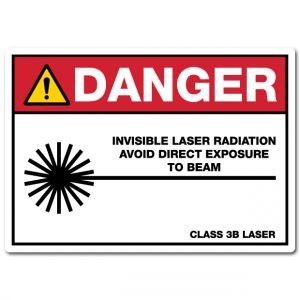 Danger Invisible Laser Radiation Avoid Direct Exposure To Beam Class 3B Laser