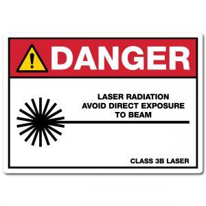 Danger Laser Radiation Avoid Direct Exposure To Beam Class 3B Laser