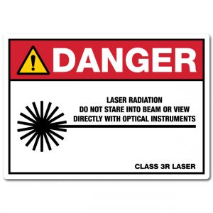 Danger Laser Radiation Do Not Stare Into Beam Or View Directly With Optical Instruments Class 3R Laser