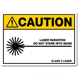 Caution Laser Radiation Do Not Stare Into Beam Class 2 Laser