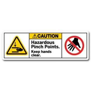 Hazardous Pinch Points Keep Hands Clear