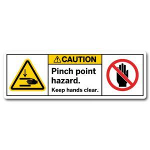 Pinch Point Hazard Keep Hands Clear