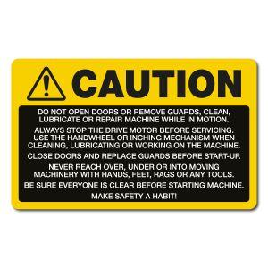 Caution Multiple Machinery Hazards - English