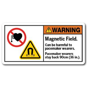 Magnetic Field Can Be Harmful To Pacemaker Wearers Pacemaker Wearers Stay Back 90cm 36 In