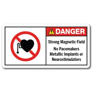 Strong Magnetic Field No Pacemakers Metallic Implants Or Neurostimulators