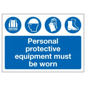 Personal Protective Equipment Must Be Worn