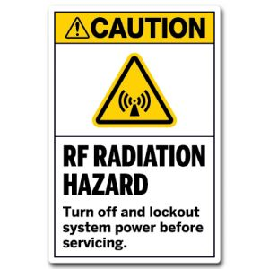 RF Radiation Hazard Turn Off And Lockout System Power Before Servicing
