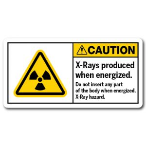 X-rays Produced When Energized Do Not Insert Any Part Of The Body When Energized X-ray Hazard