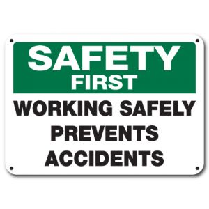 Working Safely Prevents Accidents
