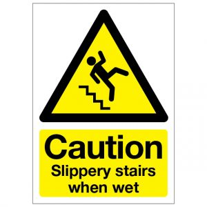 Caution Slippery Stairs When Wet