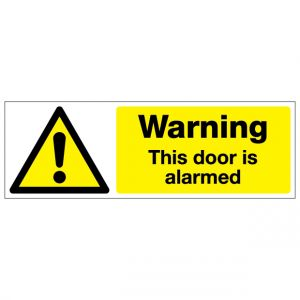 Warning This Door Is Alarmed