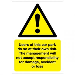 Car Park Risk Responsibilty For Damage