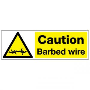 Caution Barbed Wire