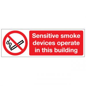 Sensitive Smoke Devices Operate In This Building