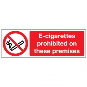 E Cigarettes Prohibited On These Premises