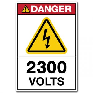 Danger 2300 Volts