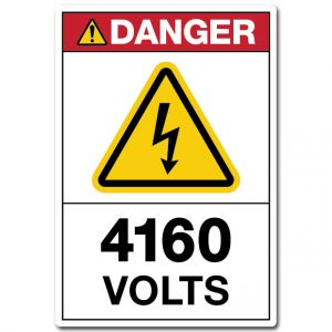 Danger 4160 Volts
