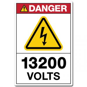 Danger 13200 Volts