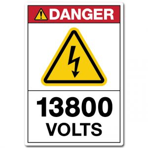 Danger 13800 Volts