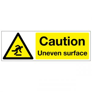 Caution Uneven Surface