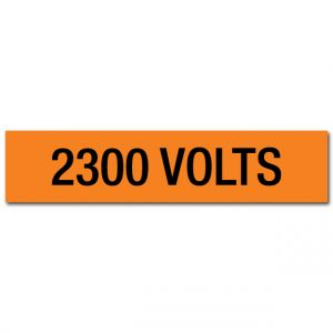 2300 Volts Voltage Marker