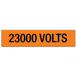 23000 Volts Voltage Marker