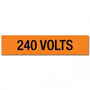 240 Volts Voltage Marker
