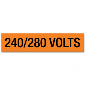 240/280 Volts Voltage Marker