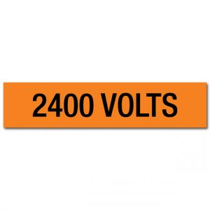 2400 Volts Voltage Marker