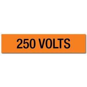 250 Volts Voltage Marker