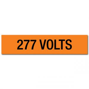 277 Volts Voltage Marker