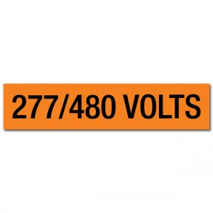 277/480 Volts Voltage Marker
